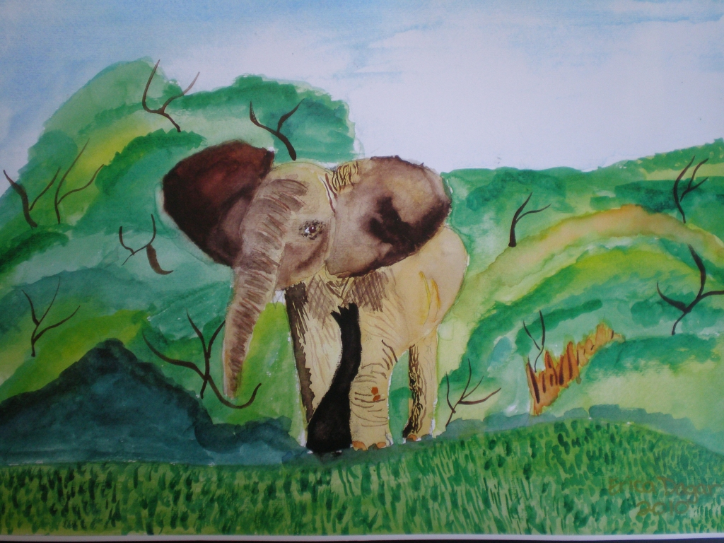 Elephant by Erica Dagar (Student)